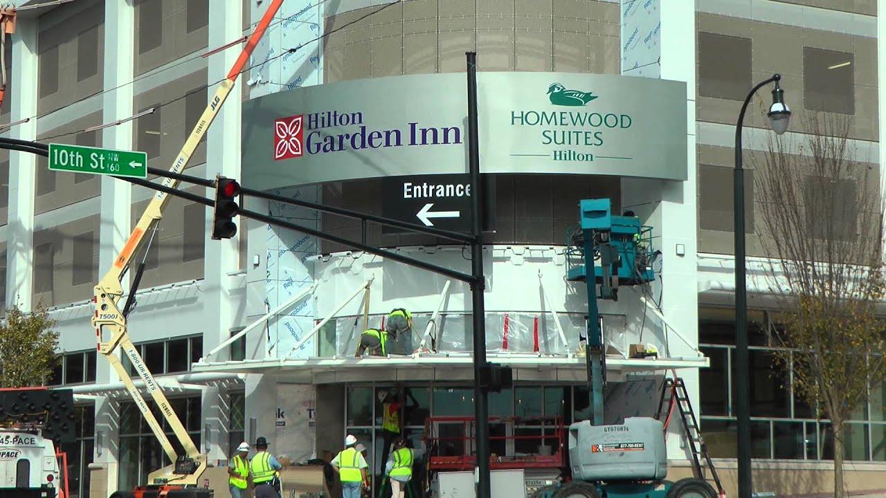 Hilton Garden Inn And Homewood Suites Construction Midtown Atlanta 11 5 12 Youtube