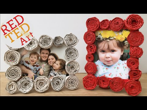 DIY Newspaper Roll Frames Gift for Father's Day or Mother's Day