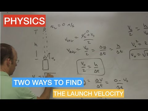 Finding the initial velocity for a launched ball