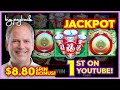 1st JACKPOT ON YOUTUBE!! for Golden Wins Deluxe Slot - AWESOME RETRIGGER!