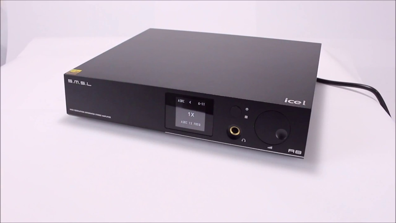 SMSL A8 ICEpower Amplifier - Display of the various menus