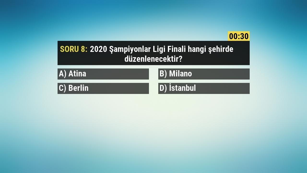 UEFA Şampiyonlar Ligi Bilgi Testi