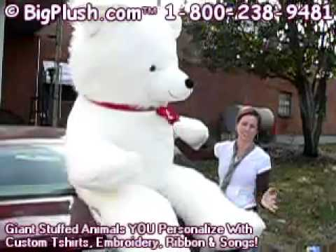 8 Feet Tall Biggest Valentines Day Teddy Bear In The World Free Name  Imprint MADE IN USA   YouTube