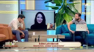 """Ucenica Alexandra, interviu video cu matinalii: """"Îmi va fi greu să mă obișnuiesc cu publicul"""""""