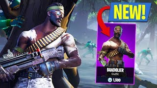 New Rambo Skin!! *Epic Bandolier Outfit* (Fortnite Battle Royale)