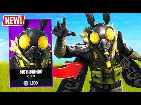 "Fortnite *NEW* Scary Moth ""Mothmando"" Skin! (Fortnite Live Gameplay) thumbnail"