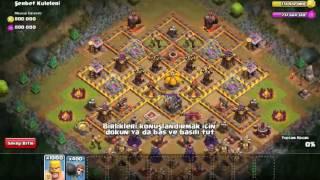 Clash Of Clans FHX Savaşları #1 1000 barbar 325 duvar yıkıcı