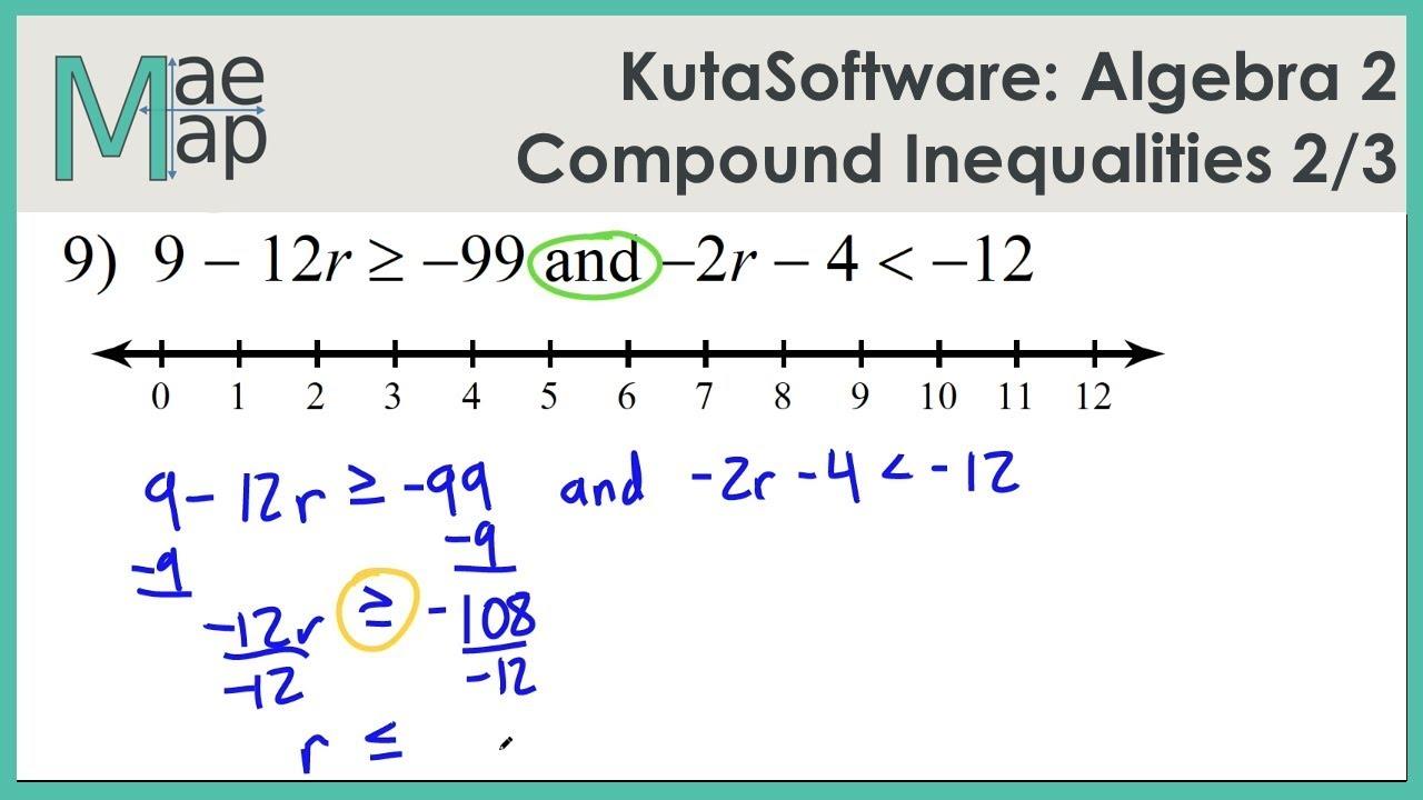- KutaSoftware: Algebra 2- Compound Inequalities Part 2 - YouTube