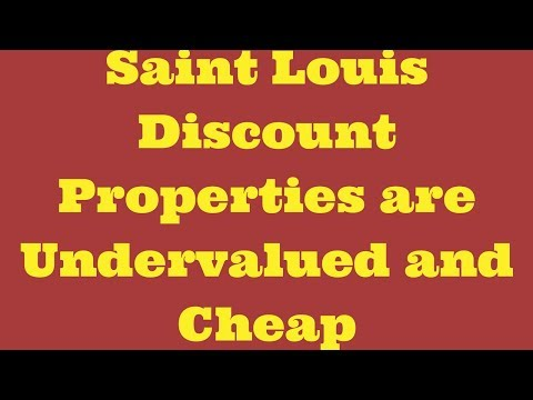 Saint Louis Discount Properties Are Undervalued and Cheap