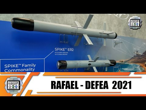 DEFEA 2021 Rafael from Israel presents modern defense equipment in the field of Land - Air - Sea