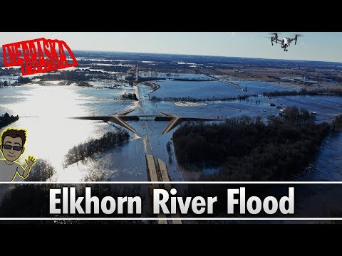 Omaha, Ne. Flood - Elkhorn River - 228th & Dodge Street (March 15, 2019)