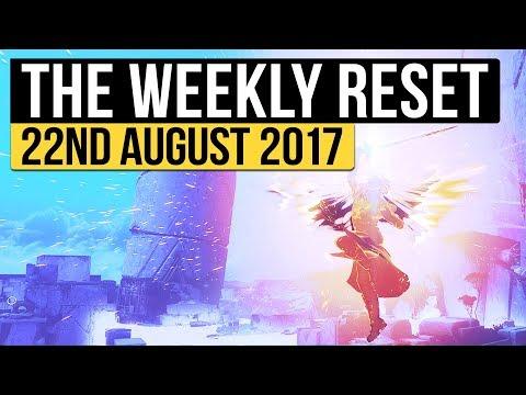 Destiny | WEEKLY RESET! - Destiny 2 Reveals, Raids, Nightfall, PvP Bounties & Vendors! (22nd August)