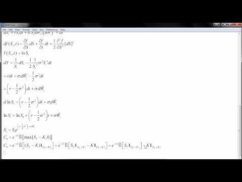 Black-Scholes model. Probabilistic derivation.
