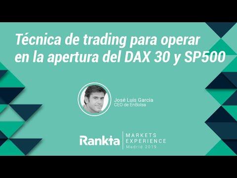 Técnica de trading para operar en la apertura del DAX 30 y SP500 por José Luis García
