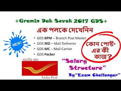 Salary Structure & Post Details Of GDS 2017