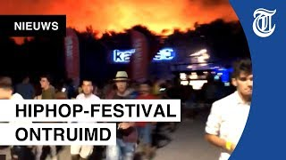 Terrein Fresh Island Festival in Kroatië ontruimd vanwege enorme bosbrand