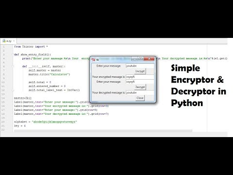 Python Mini Project | Simple Encryptor & Decryptor in Python | With Source  Code | Pycharm