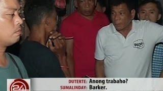 24 Oras: Mag-asawang may 11 anak, binisita ni Duterte