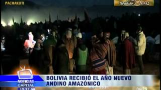 Bolivia recibió el año nuevo Andino Amazónico