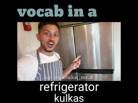 English Vocabulary In The Kichen