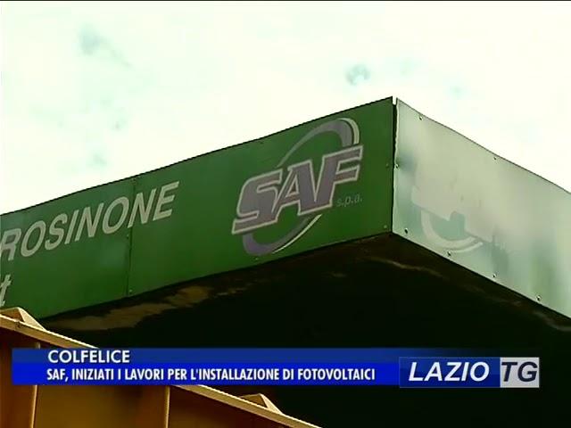 Laziotv   COLFELICE, SAF, INIZIATI I LAVORI PER IL FOTOVOLTAICO