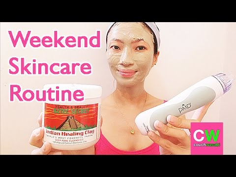 CHATTY Weekend Skincare Routine (PMD + Aztec Clay Healing Mask) | couchwasabi