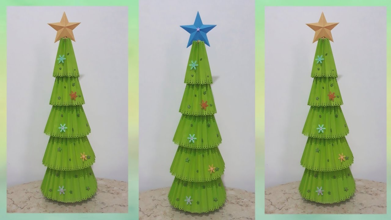 Recycled Materials Christmas Tree.Christmas Decoration L Recycled Materials Christmas Tree L Diy Christmas Project