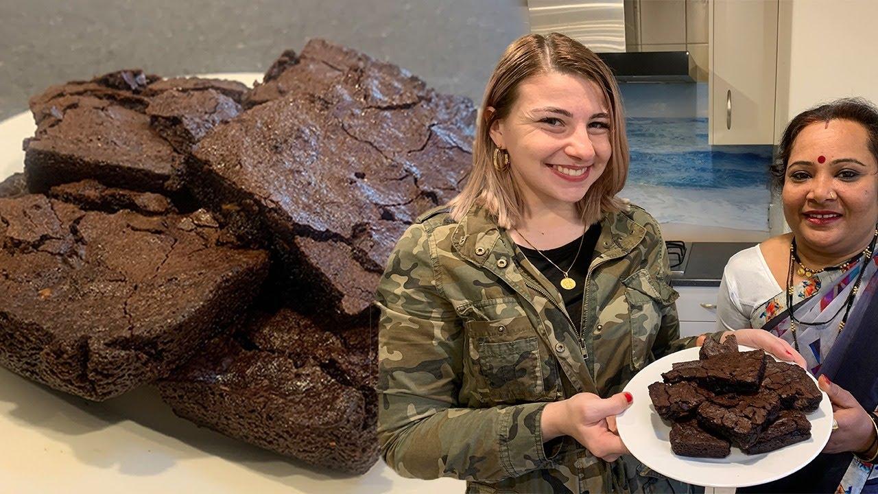 American Chocolate Brownie Recipe (In Hindi) ft. Kishanell