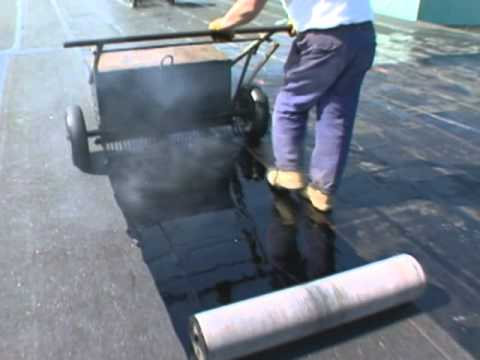 Hot Applied Modified Bitumen Roofing System Application