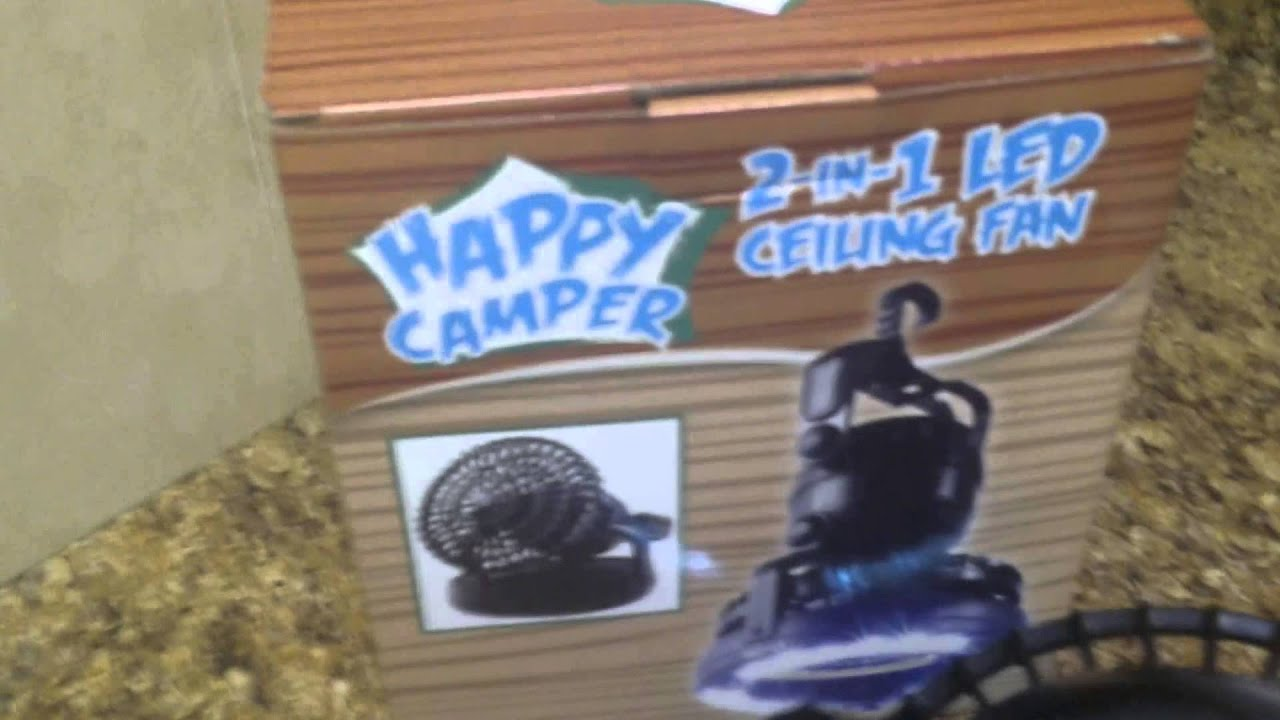 Happy Camper 2 In 1 Led Ceiling Fan