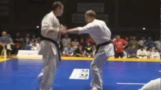 Zsolt Zsiga fighting at All Kyokushin Word Cup Szentes/ final