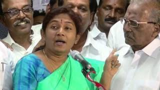 Jayalalitha Vibration  ADMK MP Sathyabama brought OPS  home