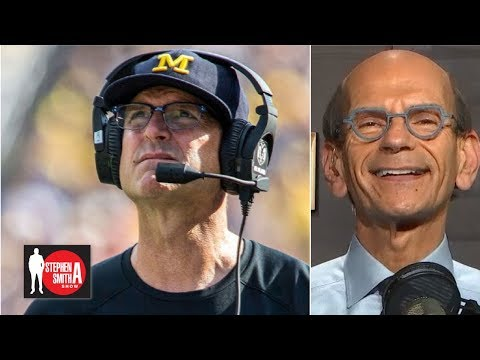 Jim Harbaugh should leave Michigan football, go to NFL - Paul Finebaum   Stephen A. Smith Show