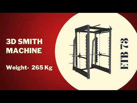 High Quality Commercial Gym Fitness Equipment 3D Smith ETB-73 Exclusive From Energie Fitness