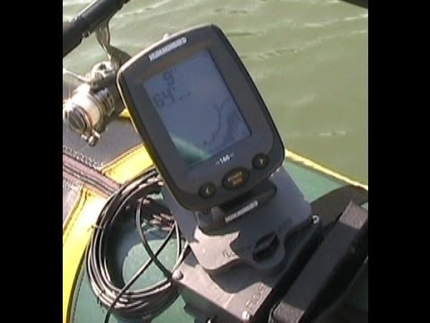 Using float tube fanatics fish finder mount to pinpoint for Float tube fish finder