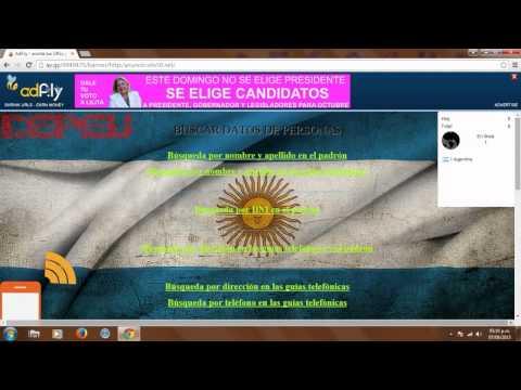 Buscar Datos / Información de Personas (ARGENTINA)