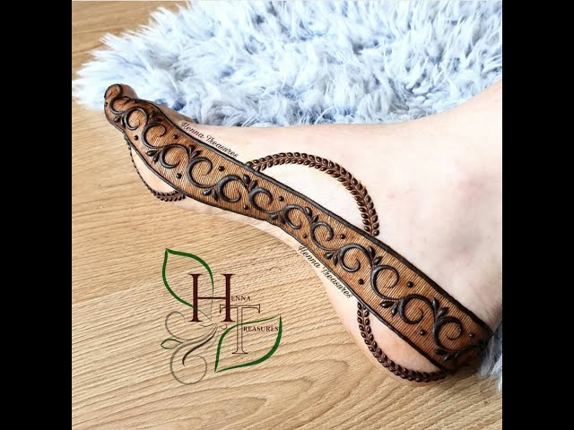 OUR BEST FEET HENNA DESIGNS FOR BEGINNERS AND PROFESSIONNALS