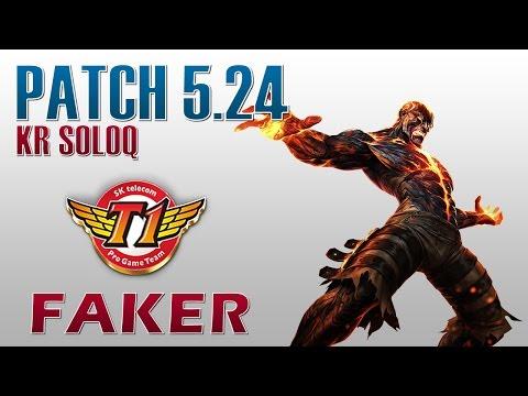 SKT T1 Faker - Brand Mid Lane - KR SoloQ