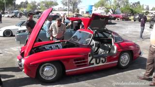 No Garage Queen - Jay Leno's 1955 Mercedes-Benz 300SL Gullwing Coupe at Supercar Sunday