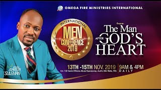 THE REAL MEN By Apostle Johnson Suleman (IMC 2019) - Day3 Morning