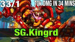 SG. kingrd 7.8K MMR Plays Timbersaw 33/1  - Dota 2
