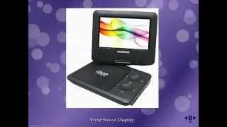 Sylvania SDVD7027-C, 7-Inch Portable DVD Player w/Car Bag/Kit, Swivel Screen, USB/SD Card Reader