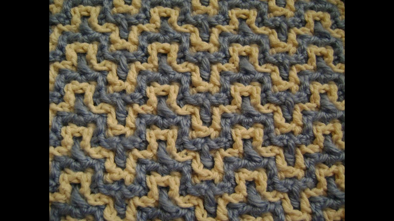 Interlocking Crochet Bargello Youtube