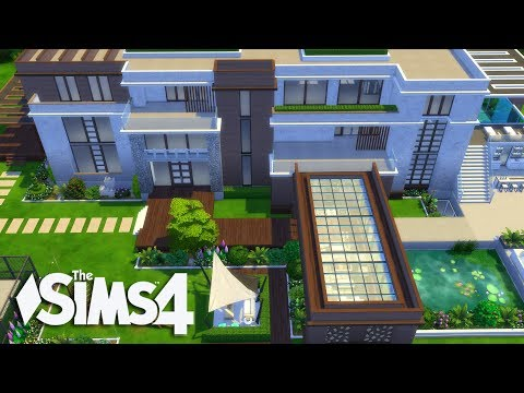 The Sims 4 - Let's Build a Modern Mansion (Part 5) Realtime