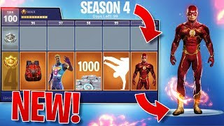"*ALL NEW* FORTNITE SEASON 4 ""Super Heroes"" THEME! - SKINS/ITEMS + TIERS LEAKED!"