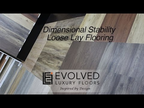 Dimensional stability Properties of Acoustic Loose Lay Flooring