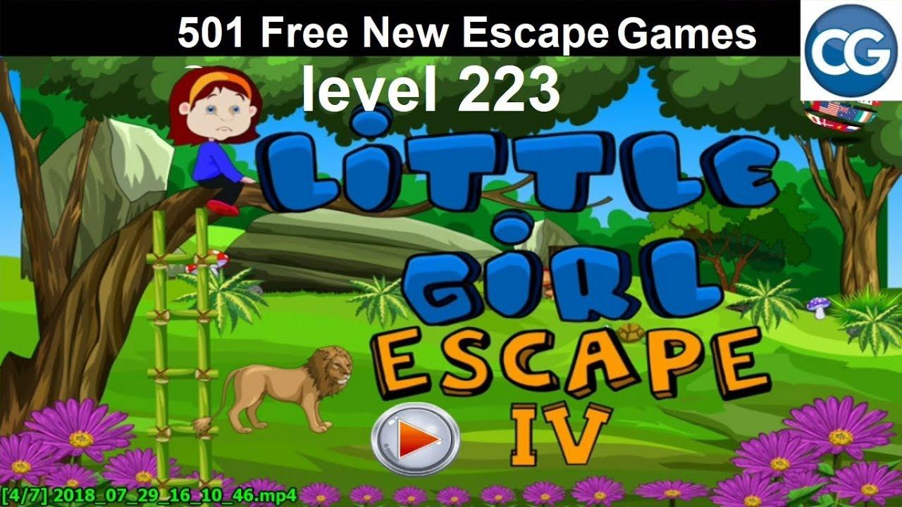 [Walkthrough] 501 Free New Escape Games level 223 - Little girl escape IV - Complete Game