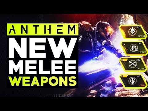Anthem New Cataclysm Loot - All New Unique Legendary Melee Weapons & Effects (Anthem PTS)