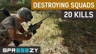 20 Kills Red Dot AWM sprEEEzy Meta | TPP 1 Man Squad