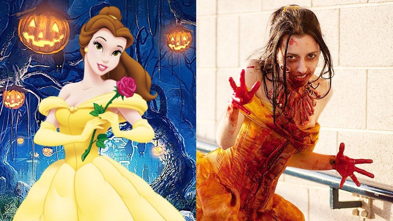Disney Princess Halloween Version   All Characters 2017 ...